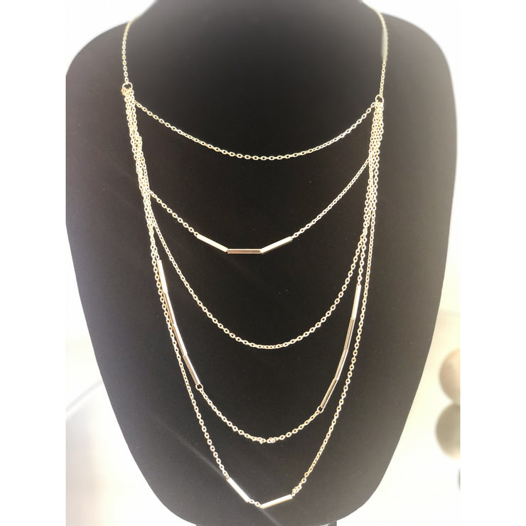 Multi-Layer Gold Link Necklace