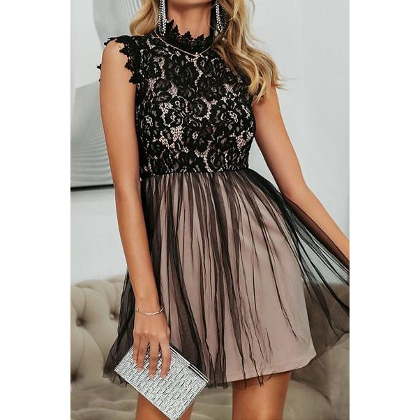 Pink Lace Petite Dress