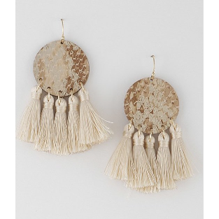 Animal Print Tassel Earrings
