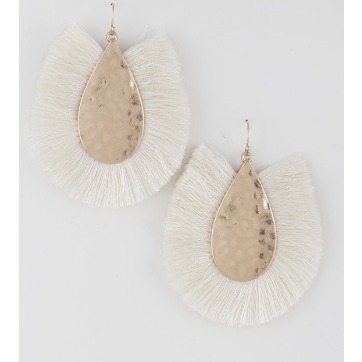 Fringe Tear Drop Earrings