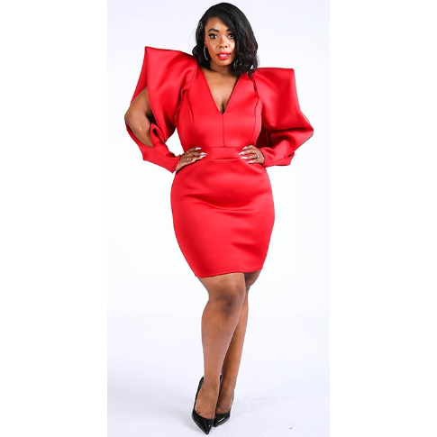 Super Shoulder Red~Curvy Bee - Clearance Final Sale