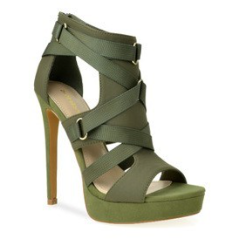 6 inch Olive Strappy Sandal