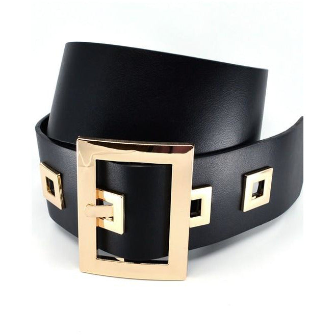 Thick Square Eyeless Waist Belt