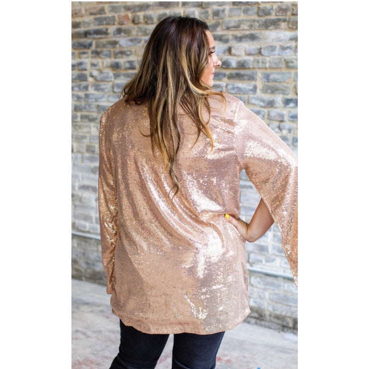 Rose Gold Cape Blazer