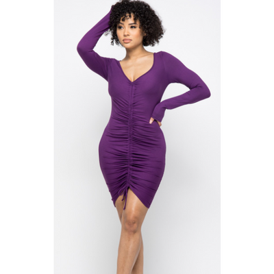 Ruched Pencil Dress