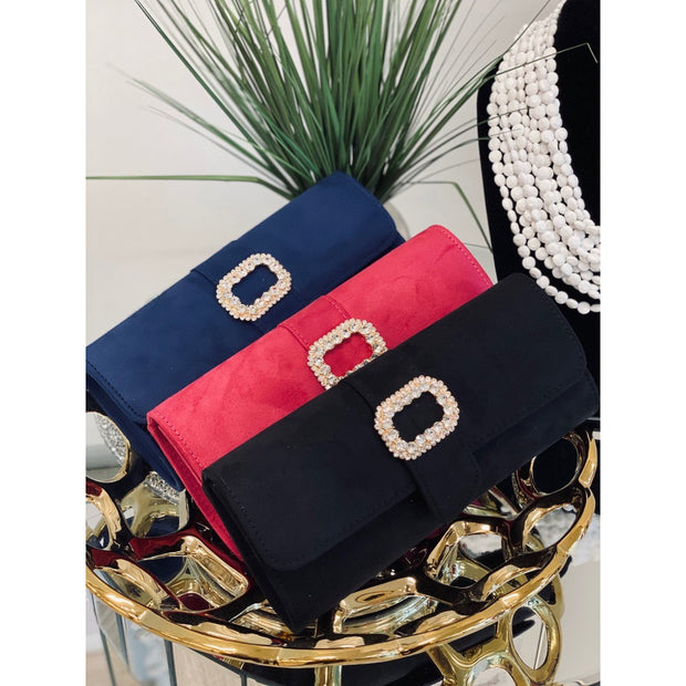Suede Small Clutch