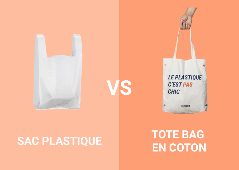 Sac plastique vs tote bag en coton