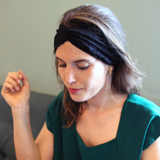 Headband Cathy noir Made in Paris Laure Derrey