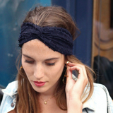 Headband Kate marine Made in Paris Laure Derrey