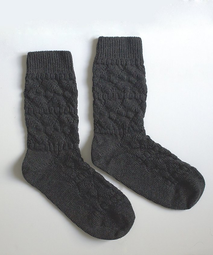 Chaussettes made in France Maison causette en laine mérinos noires