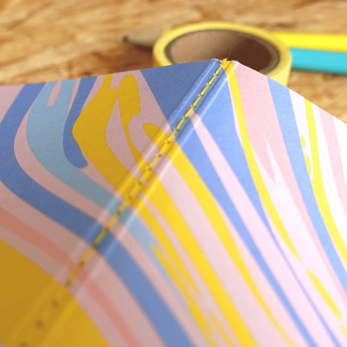 Carnet notebook, couverture en papier recyclé