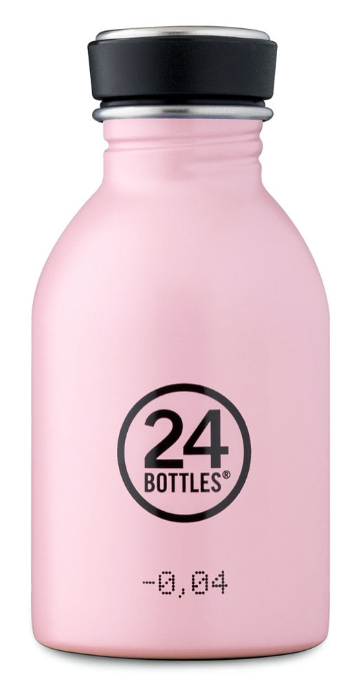 Gourde en inox 250ml candy pink 24 bottles
