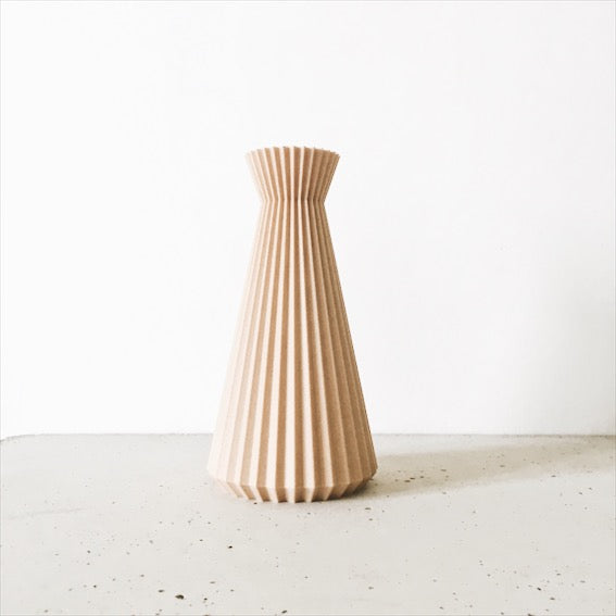 Vase Ishi Minimum Design en bois recyclé