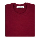 Pull tricot bordeaux made in france