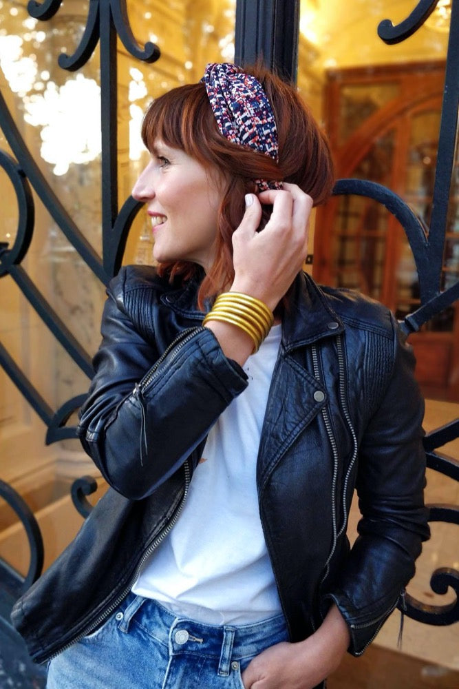 Headband rétro tessa made in Paris Laure Derrey