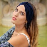 Headband marine made in Paris Laure Derrey