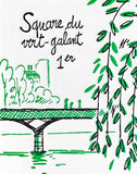 Carnet 1er arrondissement de Paris Letterpress de Paris