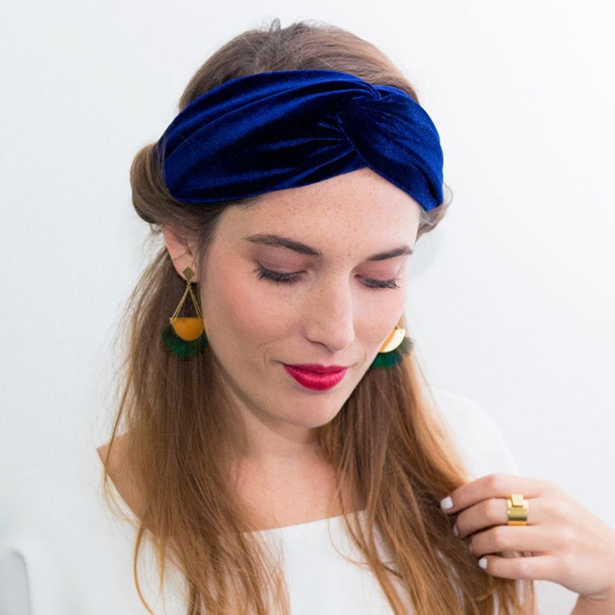 Headband velour made in Paris Laure Derrey
