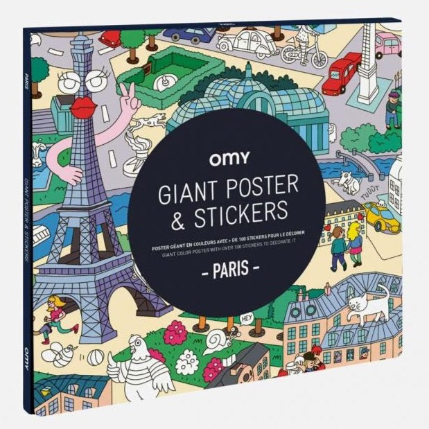 Poster à sticker Paris OMY