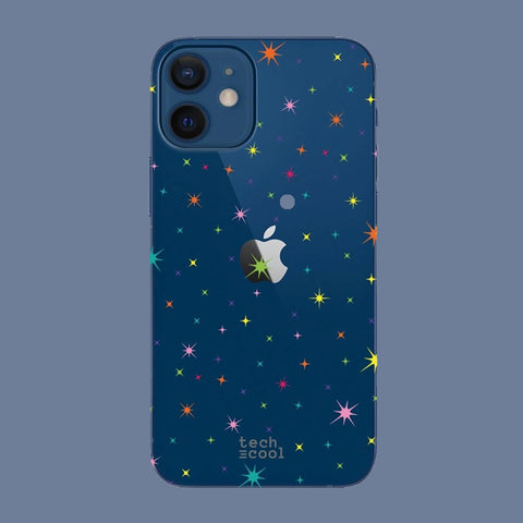 Funda iPhone 12 Mini Transparente Estrellas