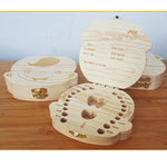 Wooden Tooth Organizer - Save Your Kids Baby Teeth