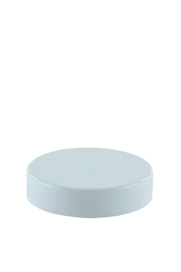 Lid 56mm Lowline White PP Flat + Cello Wad