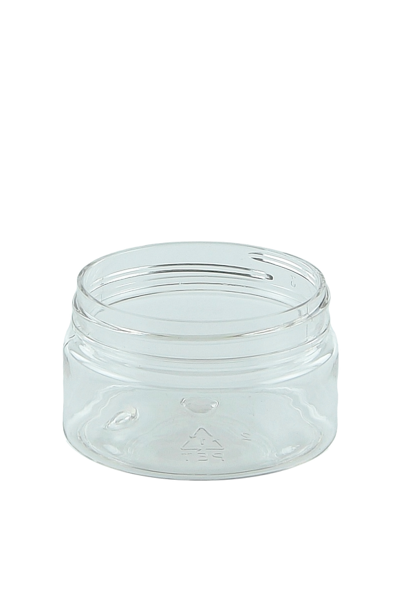 Jar 50mL Lowline Base 56mm Clear PET 15gm