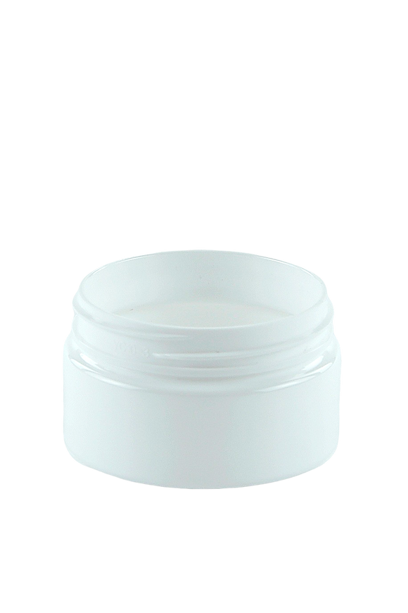 Jar 50mL Lowline Base 56mm WhiteSolid PET 15gm