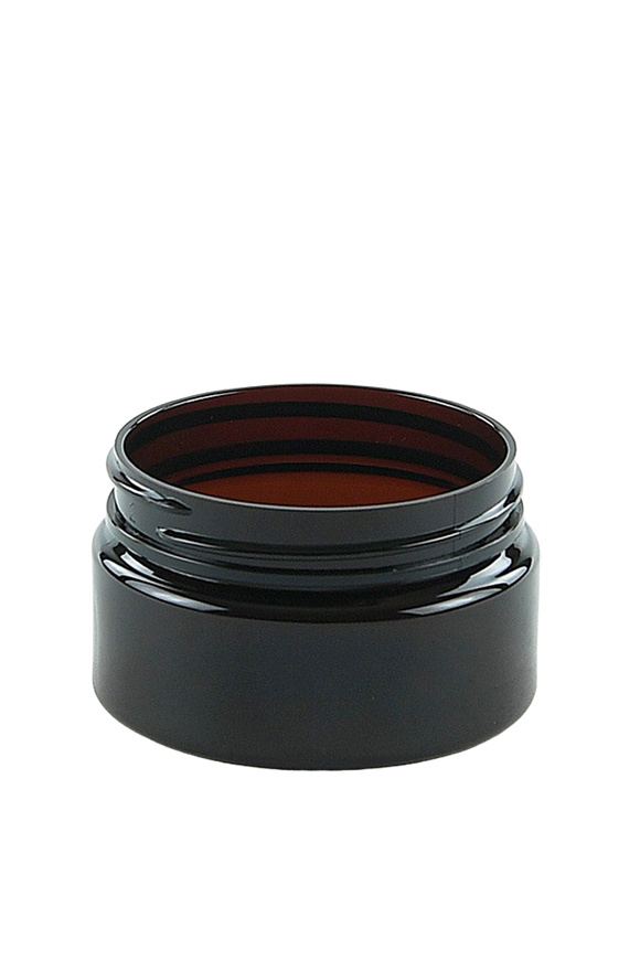 Jar 50mL Lowline Base 56mm AmberTint PET 15gm