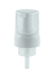 FPT Foamer Pump 43/410 White 159dt fbog Smooth-Wall with PE wad/gasket OUTSIDE Spring + Overcap Clear
