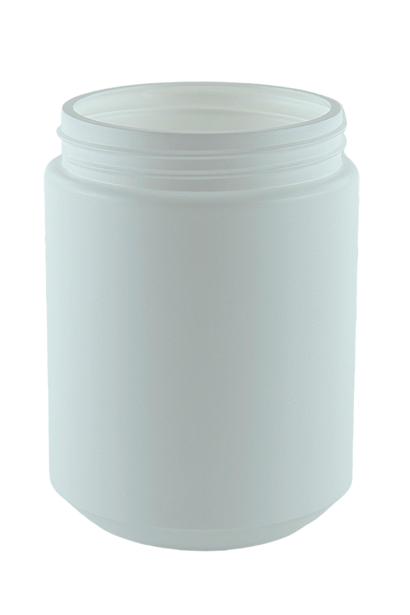 Jar 1Ltr Bro Base 95mm White HDPE