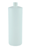 Bottle 1Ltr Bro Cylinder FLUORINATED 28/410 Natural HDPE
