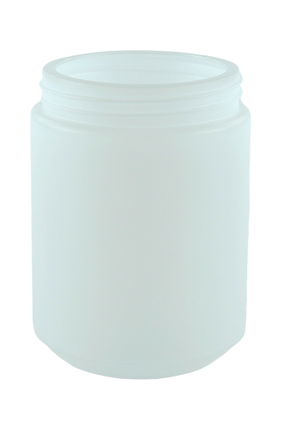 Jar 1Ltr Bro Base 95mm Natural HDPE