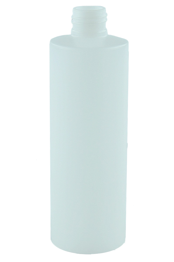 Bottle 250mL Bro Cylinder FLUORINATED 24/410 Natural HDPE