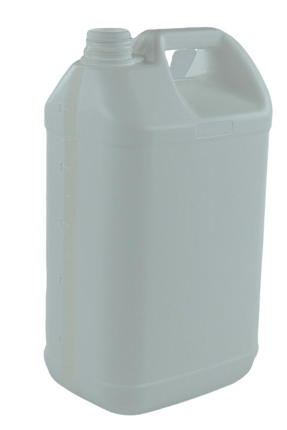 Jerry Can 5Ltr 38/410-TE White HDPE TAMPER-EVIDENT (with View Stripe)