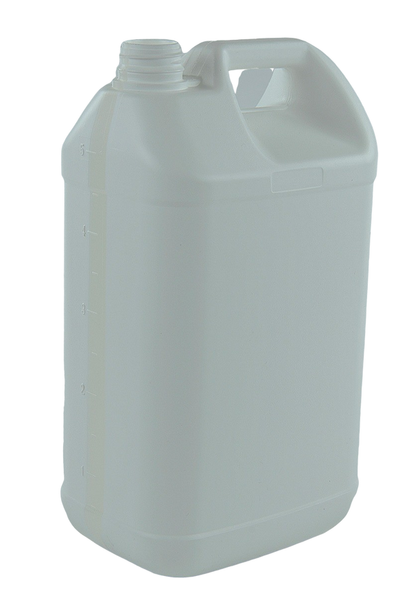 Jerry Can 5Ltr 38/410-TE White HDPE TAMPER-EVIDENT - Heavy (with View Stripe)