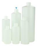 Bottle 500mL Bro Cylinder FLUORINATED 28/410 Natural HDPE