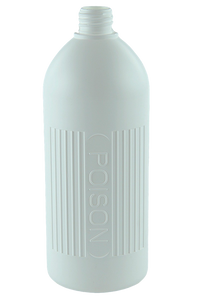 Bottle 1Ltr VP Poison Boston 28/410 White HDPE
