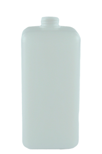 Bottle 2Ltr Square Coulter 33/405 Natural HDPE 90gm Short Body (no insert)