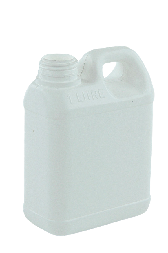 Jerry Can 1Ltr 38/410-TE White HDPE TAMPER-EVIDENT