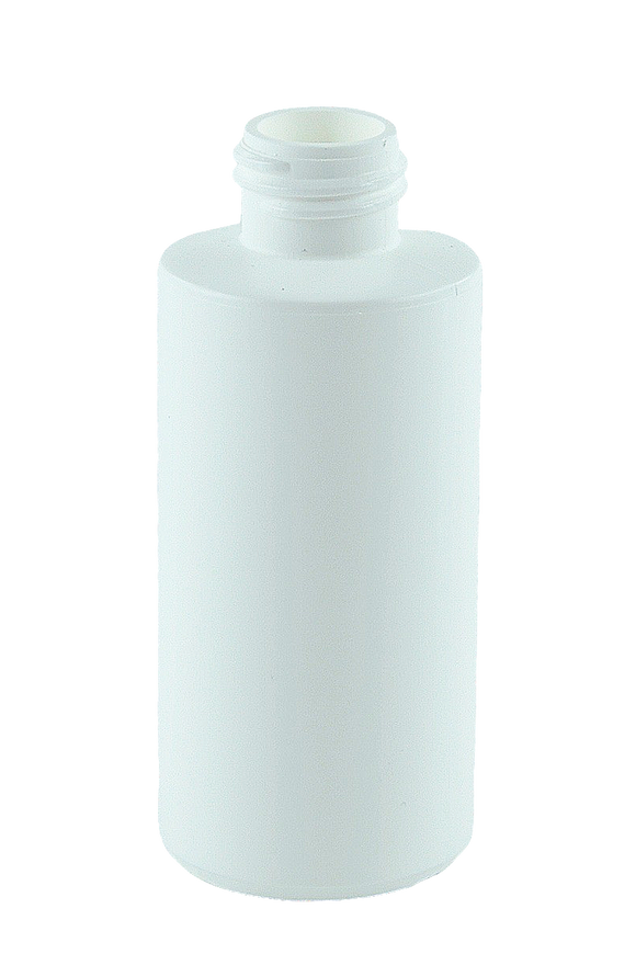 Bottle 100mL Bro Cylinder 24/410 White HDPE