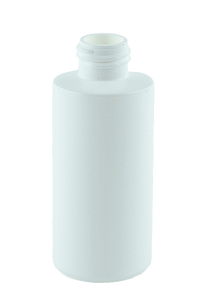 Bottle 100mL Bro Cylinder 24/410 White RHDPE (100% PCR)
