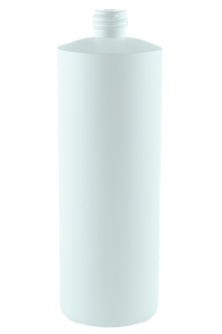 Bottle 1Ltr Bro Cylinder 28/410 White HDPE