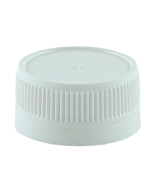SCR Screw Cap Tampertel 38/410-TE White Ribbed-Wall Wedge-Seal TAMPER-EVIDENT