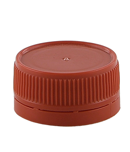 SCR Screw Cap Tampertel 38/410-TE Red Ribbed-Wall Wedge-Seal TAMPER-EVIDENT