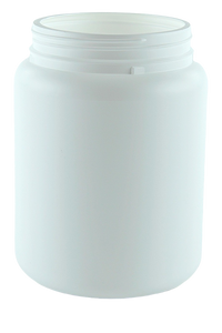 Jar 1.65Ltr Wide Mouth 110mm White HDPE TAMPER-EVIDENT Neck