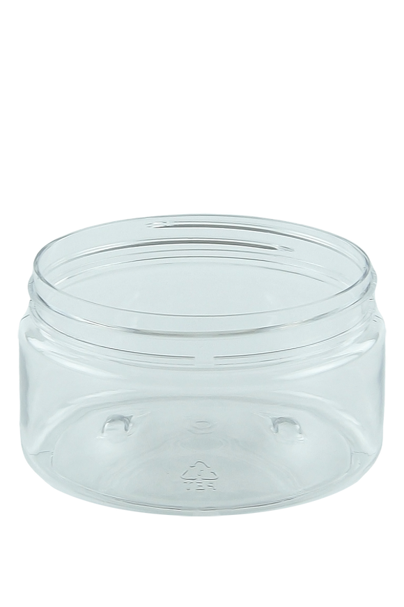 Jar 250mL Lowline Base 89mm Clear PET