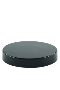 Lid 89mm Lowline Black PP Flat