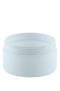 Jar 250mL Lowline Base  89mm White-Brilliant PET