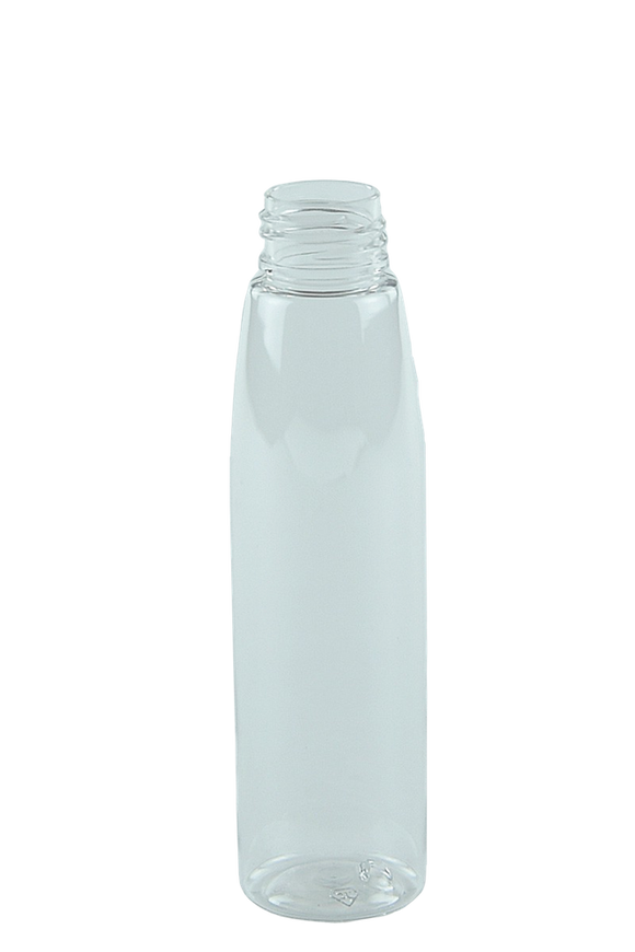 Bottle 100mL Bullet Round 24/410 Clear PET Light-Weight (Squeezy)